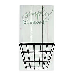 "P. Graham Dunn ""Simply Blessed"" Organizer Basket Wall Art"