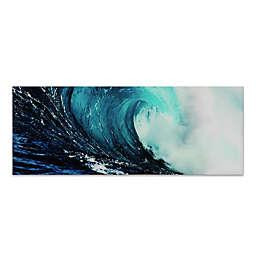 """Empire Art Direct """"Blue Wave 2"""" Glass Wall Art"""