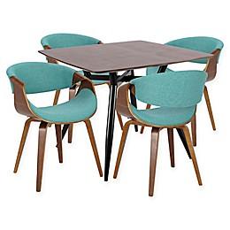 LumiSource Curvo 5-Piece Dining Set