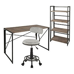 LumiSource® Dakota Metal 3-Piece Office Set in Grey