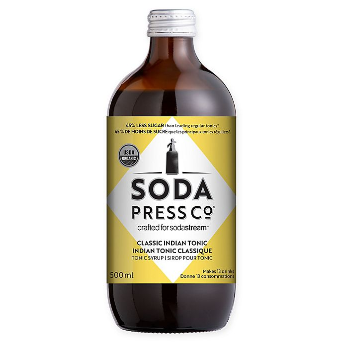 Alternate image 1 for SodaStream® Classic Indian Tonic Soda Press Syrup