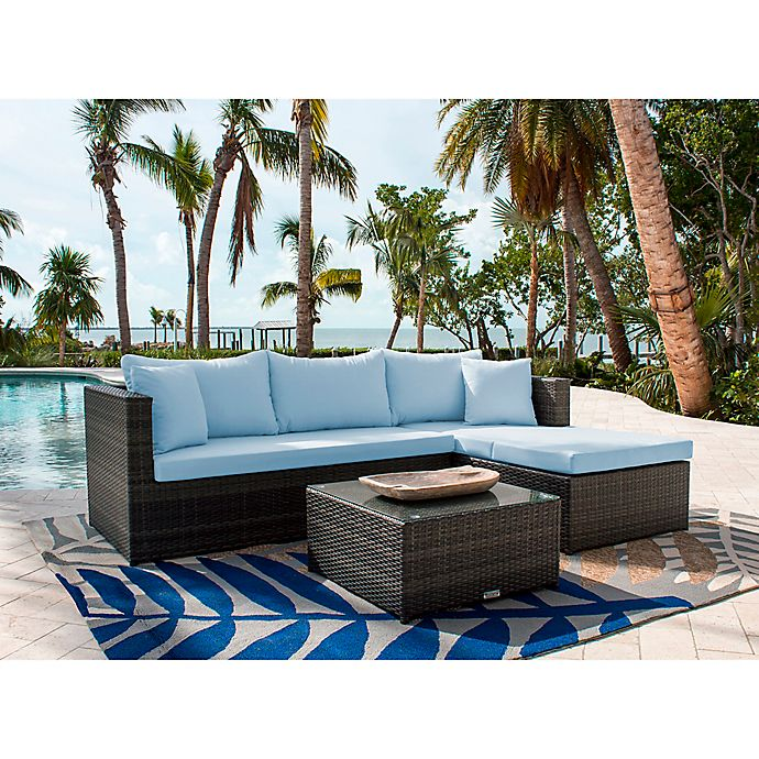 Athens 3-Piece Outdoor Sectional with Sunbrella® Fabric