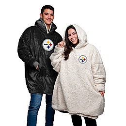 NFL Adult 1-Size Reversible Pullover Sherpa Hoodie Collection