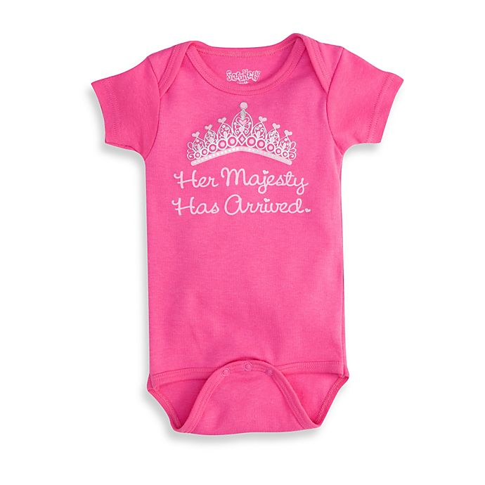 Alternate image 1 for Sara Kety® Hot Pink Her Majesty Infant Snapsuit