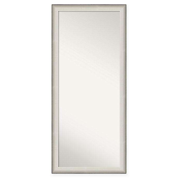 Alternate image 1 for Amanti Art Allure 28-Inch x 64-Inch Framed Full Length Floor/Leaner Mirror in Nickel/Silver