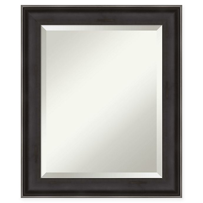 Alternate image 1 for Amanti Art Allure Wall Mirror in Charcoal