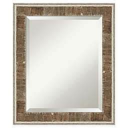Amanti Art Farmhouse Narrow Vanity Mirror in Brown