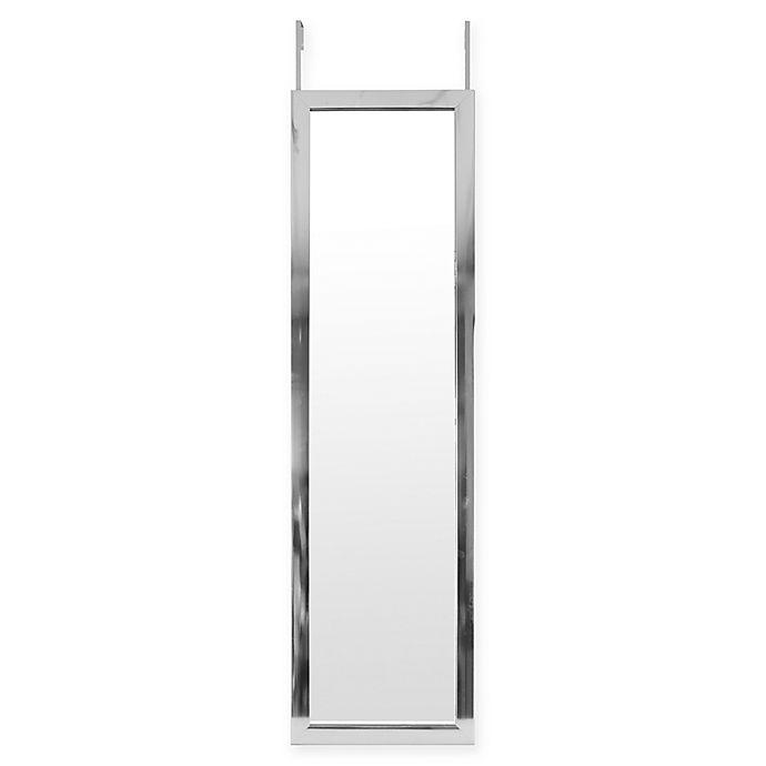 Alternate image 1 for Over-The-Door Hanging Mirror in Silver