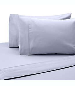Set de sábanas individuales de algodón satinado SALT™ de 300 hilos color azul claro