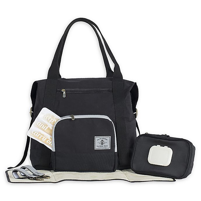 Alternate image 1 for Humble-Bee™ All Heart Convertible Diaper Bag in Onyx