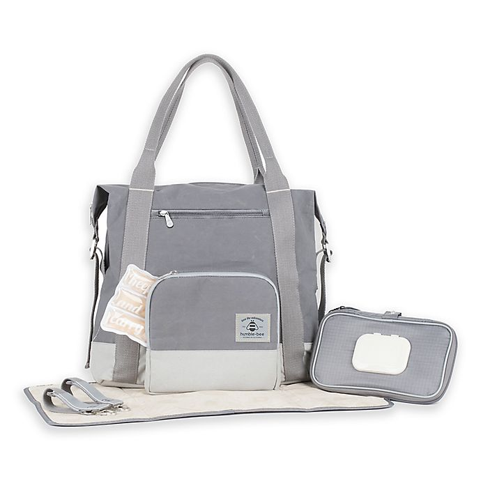 Alternate image 1 for Humble-Bee™ All Heart Convertible Diaper Bag in Pebble