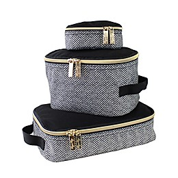 Itzy Ritzy® 3-Piece Pack Like A Boss Packing Cubes in Coffee/Cream