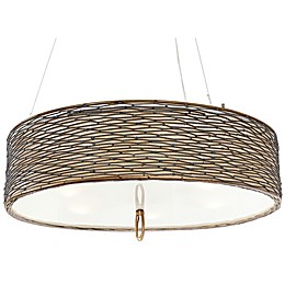 Varaluz® Flow 5-Light Pendant in Dark Brown