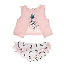 Jessica Simpson 2-Piece Locally Grown Tank and Bloomer Set in Pink