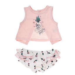 f05183897093 Jessica Simpson 2-Piece Locally Grown Tank and Bloomer Set in Pink