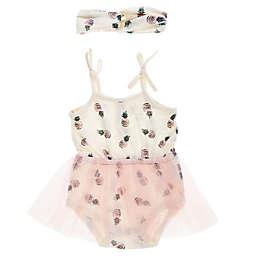 4af499e622aa Jessica Simpson 2-Piece Pineapple Tutu Bodysuit and Headband Set in Pink
