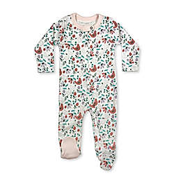 Finn by Finn + Emma® Bird Floral Organic Cotton Footie in White