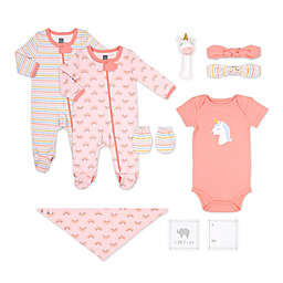 The Peanut Shell® Size 0-3M 10-Piece Unicorn Layette Set