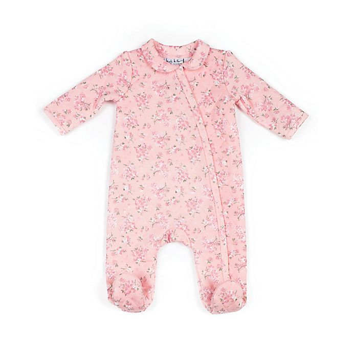 Alternate image 1 for Nicole Miller NY Quilted Floral Footie in Pink