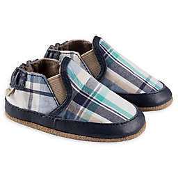 Robeez® Liam Soft Sole Casual Shoe in Blue Plaid