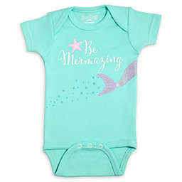 Sara Kety® Size 0-6M Mermazing Bodysuit in Pastel Green