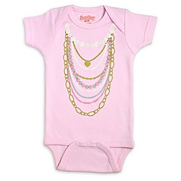 Sara Kety® Pink Necklaces Bodysuit