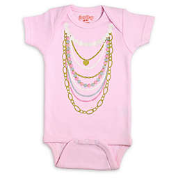 Sara Kety® Size 0-6M Pink Necklaces Bodysuit