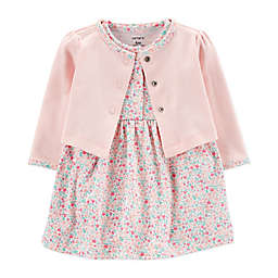 carter's® Preemie 2-Piece Floral Dress and Cardigan Set
