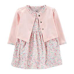 carter's® Preemie 2-Piece Floral Dress and Cardigan Set