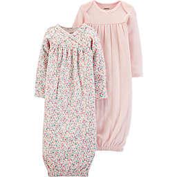 carter's® Preemie 2-Pack Pointelle Sleep Gowns