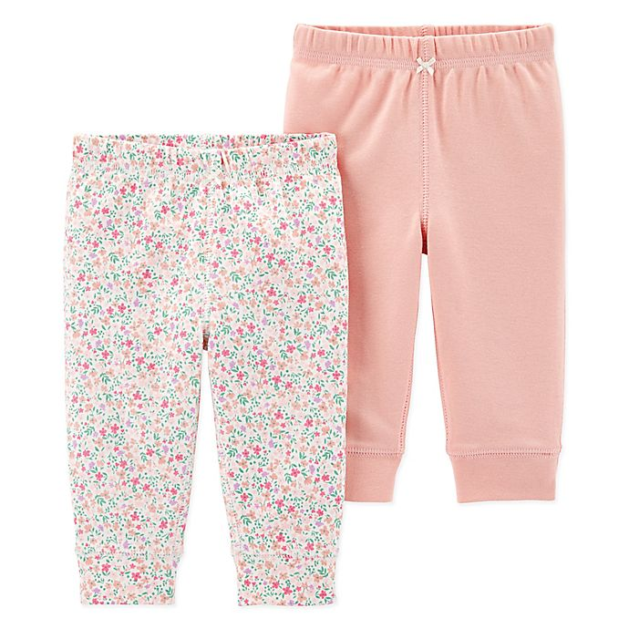Alternate image 1 for carter's® Preemie 2-Pack Floral Pants
