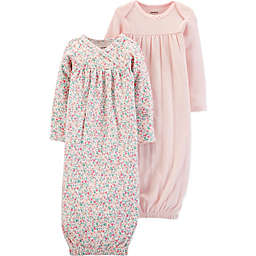 carter's® 2-Pack Floral Pointelle Long Sleeve Gowns