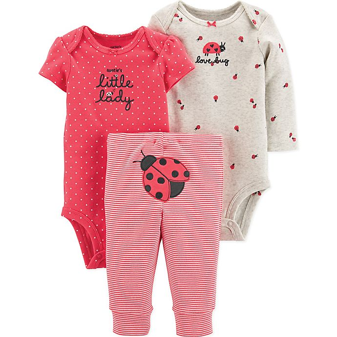 Alternate image 1 for carter's® 3-Piece Ladybug Character Layette Set in Red