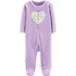 carter's® Heart Footie in Purple