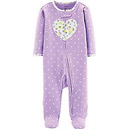 carter's® Heart Footie in Purple