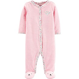 carter's® Textured Heart Footie in Pink