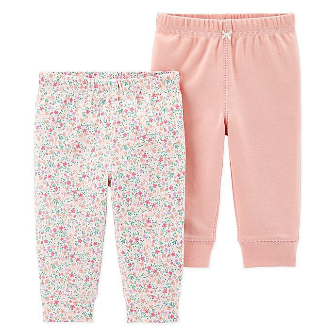 Alternate image 1 for carter's® 2-Pack Floral Pants in Pink