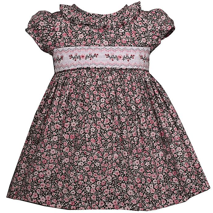 Alternate image 1 for Bonnie Baby Floral Dress in Rose