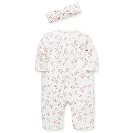 Little Me® 2-Piece Rose Footie and Headband Set in Ivory
