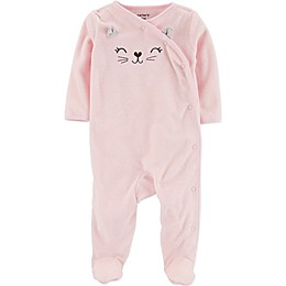 carter's® Cat Footie in Pink