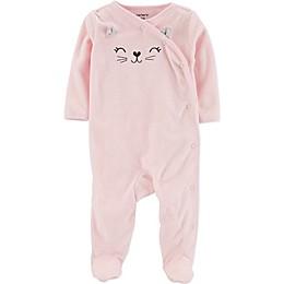 carter's® Cat Footie in Pink