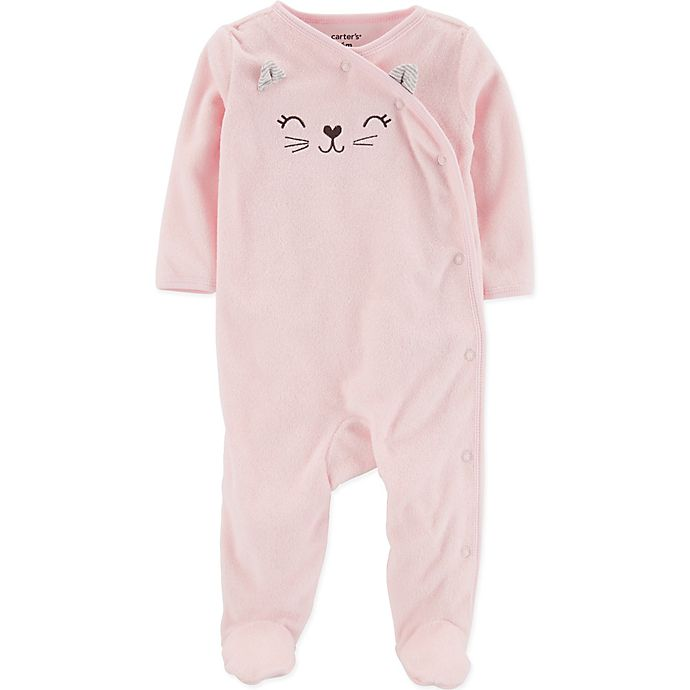 Alternate image 1 for carter's® Size 3M Cat Footie in Pink