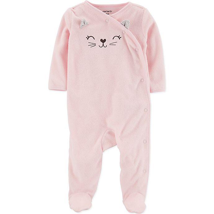 Alternate image 1 for carter's® Cat Footie in Pink
