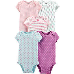 carter's® 5-Pack Floral Print Bodysuits