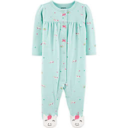 carter's® Unicorn Snap-Front Footie in Teal