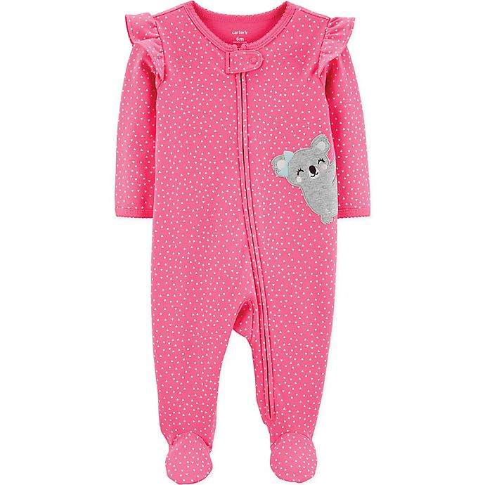 Alternate image 1 for carter's® Koala Long Sleeve Footie in Pink