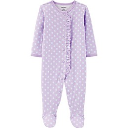 carter's® Ruffled Footie in Purple