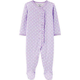 carter's® Size 9M Ruffled Footie in Purple