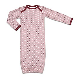 The Peanutshell™ Happy Hippie Burgundy Trim Sleep Gown