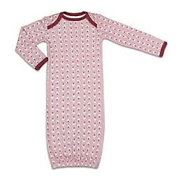 The Peanutshell™ Happy Hippie Burgundy Trim Sleep Gown